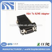 Female VGA Extender Adapter para CAT5 / CAT6 / RJ45 Conector de Cabo