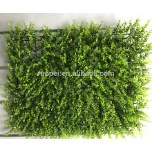 Дешевые 40*60 см искусственный листья коврик для вертикальной отделки стен