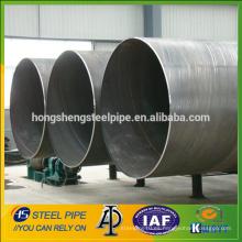 SSAW tubo de acero soldado espiral de gran diámetro, fabricantes de tubos