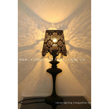Modern Indoor Laser-Cutted Metal Table Lamp