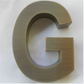 Sinais de letras de Metal Bronze decor