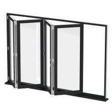 Portas externas dobráveis de vidro para pátio