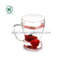 Double Wall Tea Cup by BV, SGS, (L13.5cm, W: 10cm H: 17.8cm, 330ml)