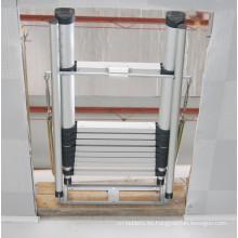 Escaleras plegables Característica y sección plegable Estructura Loft Escalera