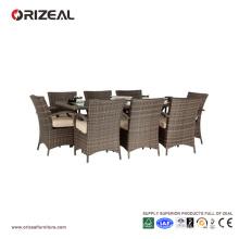 Ensemble de salle à manger carré 8 places en rotin extérieur OZ-OR061