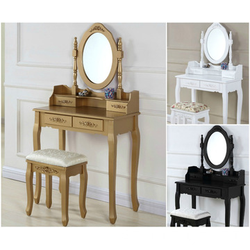 Royal Golden Drawers Mirror dressing table