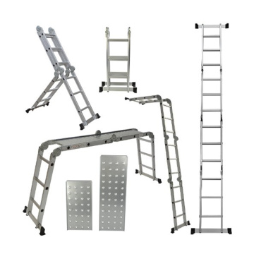 Escalera plegable de aluminio multipropósito