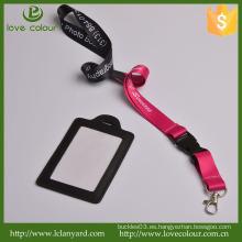 Venta al por mayor corbata de cuello correa de identificación del acollador tarjeta de identificación del PVC