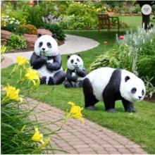 Simulation Panda Large Fiberglass Sculpture for Outdoor Garden Villa Courtyard Landscape Decoration
