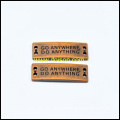 Garment Accessories Metal Plate with Customized Logo Button