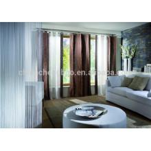 Nova moda plissada cortina turca cortina dupla cortina da corda da haste