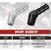 45 Angle NPT to Barb Adaptor