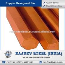 Barra hexagonal de cobre de alta eficiencia disponible en varios tamaños