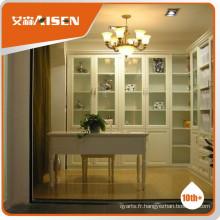 Avec bibliothèque de garantie de qualité avec portes vitrées