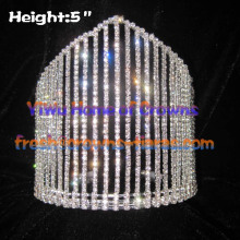 5inch All Clear Crystal Pageant Crowns