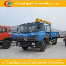 Dongfeng 190HP telescópio reto braço guindaste montado caminhão Wrecker