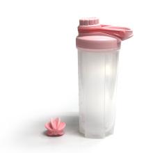 Logo custom gym bottle protein shaker athletic plastic water bottle 600ml
