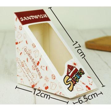 Boîte d'emballage de sandwich de fenêtre de triangle