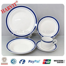 20pcs Hand Painted Color Rim Edge Dinnerware Set