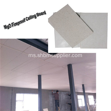 Damproof No-formaldehid Fireproof 5mm MgO Ceiling Board