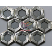 Hexagon Shape Crystal and Steel Mixed Mosaics (CFM1001)
