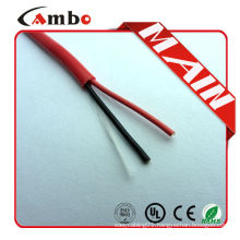 Made In China high quality 1000ft Red FPL FPLR cctv 2 core Bare Copper fire fighting cable