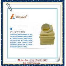 Resistente ao calor Nonwoven P84 agulha feltro bolsa de filtro de bolso de poeira