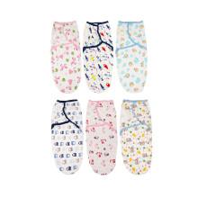 100%cotton baby swaddle adjustable blanket infant swaddle wrap