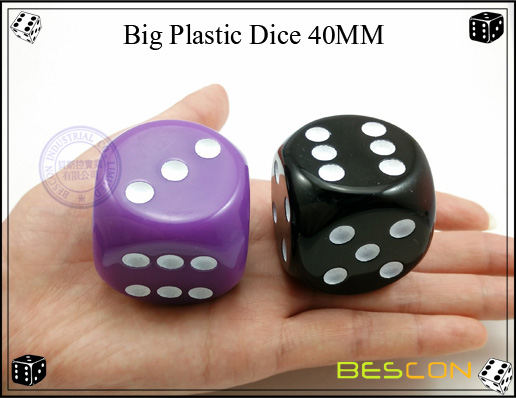 Big Plastic Dice 40MM