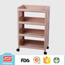 Melhor venda nova chegada rack de prateleira de plástico quadrado para artigos diversos de loja de utilidades domésticas