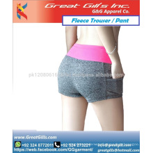Sexy wool short for girl and women for gym and exercise fleece fabric