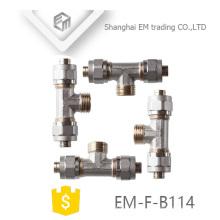 Encaixe de tubulação em latão de 3 vias EM-F-B114 AL-PEX-AL