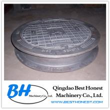 Plaque d'égout en fonte (fonte ductile / fer gris)