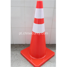 Fluorescente Orange Flexible Road Safety PVC Cone de trânsito