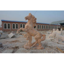 Stone Jumpping Horse Statue For Outdoor Decoration
