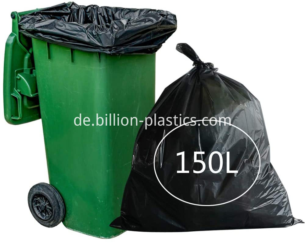 heavy duty black garbage bags