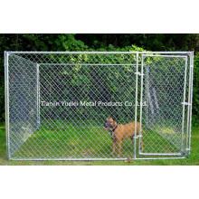 Цепная ссылка Собачий питомник Наружный забор Backyard Большой петушок для животных Pen Run оцинкованный