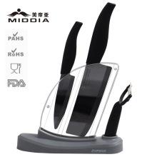 Mirror Blade Ceramic Damascus Knife/Cleaver/Peeler/Block