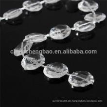 Neueste Vorhang-Designs transperant Perlen Tür Vorhang handgefertigt