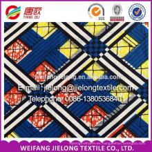 nuevo diseño cera súper tela de cera africana impresión de lote