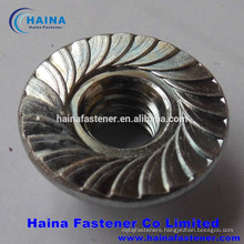 Stainless steel flange nut with serrated