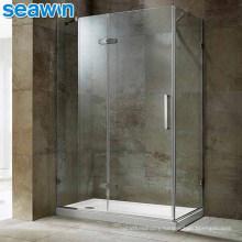 Seawin Prefab Bathroom White Modular Cabin Tray Glass Shower Enclosure Rooms