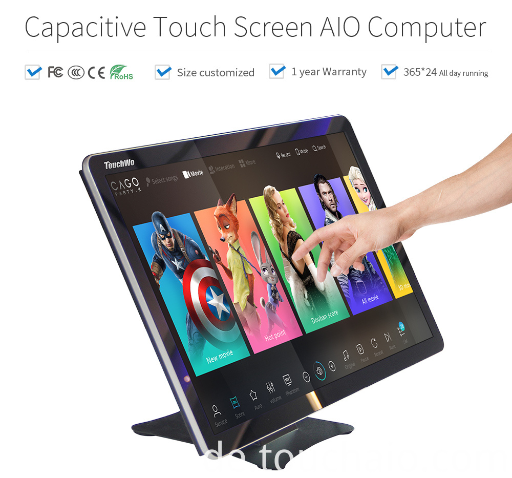 Ultra thin touch pc