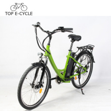Preço barato e-bike bicicleta elétrica personalizada bicicleta de 26 polegadas E para a mulher de Europa feita em China