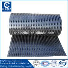 HDPE composto dimple geomembrana drenagem bordo