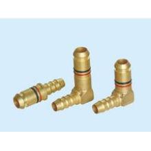 CNC Manufacture Nylon Hose Pneumatic Brass Fitting