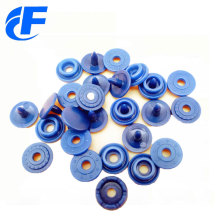 Recycled round shape plastic snap button for bag/cloth