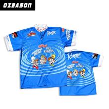 Custom Sportswear Blue Color Custom Fishing Jersey for Sale