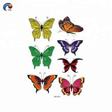 Coloré en autocollant de corps de personnaliser pour le gamin de style de papillon