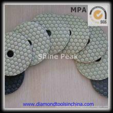 Almohadillas de pulido en seco de diamante flexible de piedra de granito de mármol
